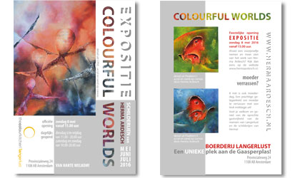 expositie colourful worlds - Herma Ardesch