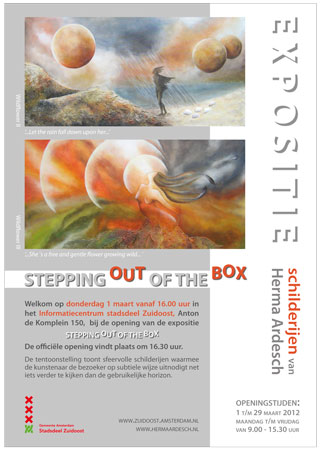 affiche stepping out of the box